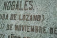 Letra emplomada en Novelda